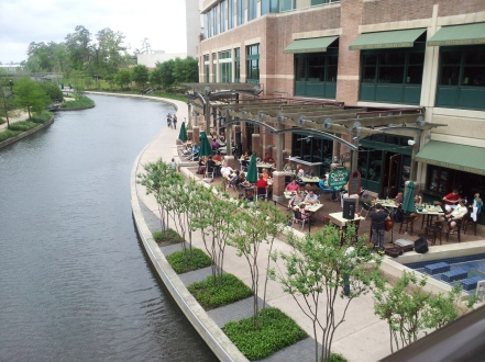 Riverwalk at The Woodlands, north of Houston