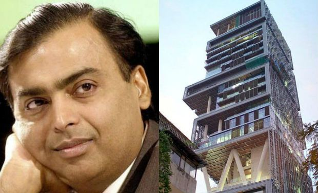 Mukesh Ambani - The Indian business magnate's house in Mumbai is a 27-story, 400,000-square foot skyscraper.