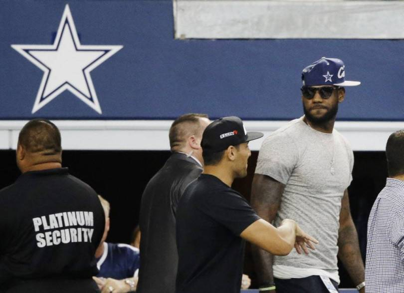 Lebron is an affluent Dallas Cowboys fan