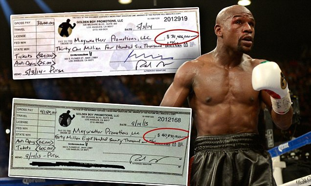 Mayweather's Net Worth Set To Rise By 37% To US0 Million After Beating Pacquiao | Wealth-X