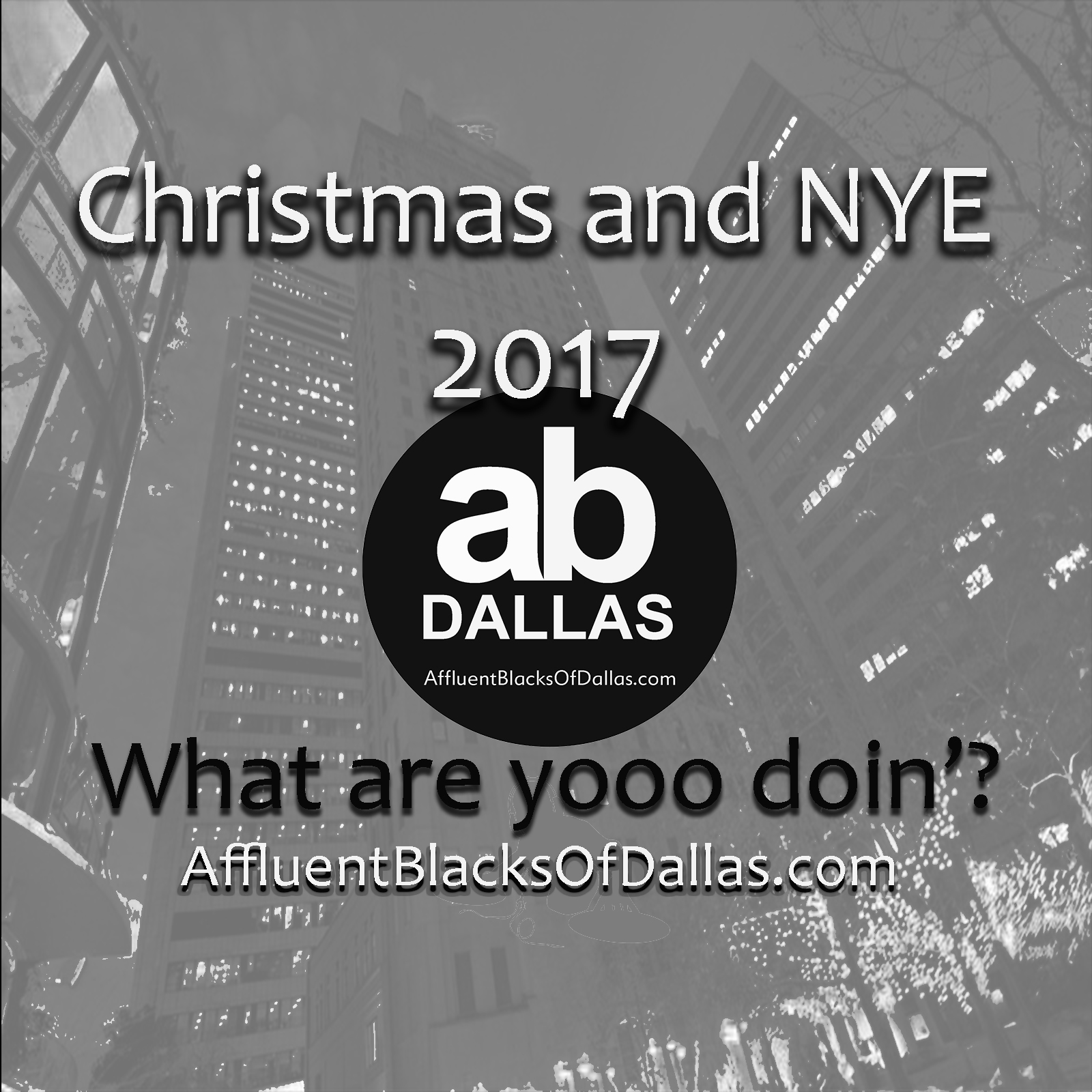 Hey! It's Christmas Socializing Season All Across the Land of Dallas Ft. Worth!