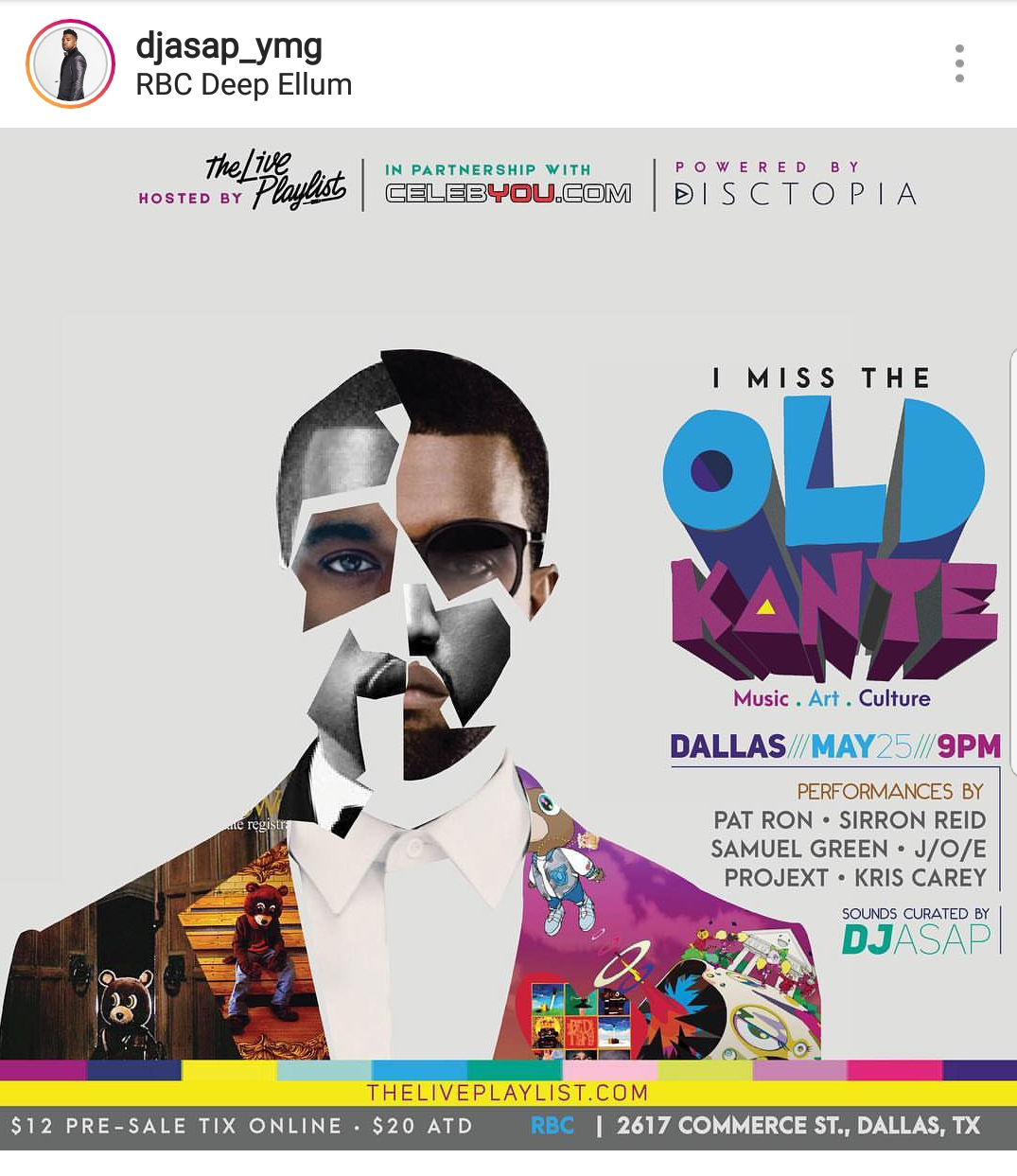 DALLAS Artists Join Together Tonight to Bring Back the OLD Kanye West