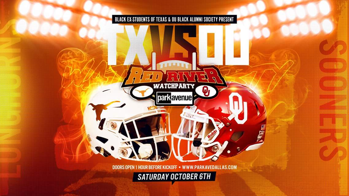 It's the Big OU Texas Red River Rivalry Weekend! Parties E'rewhere…