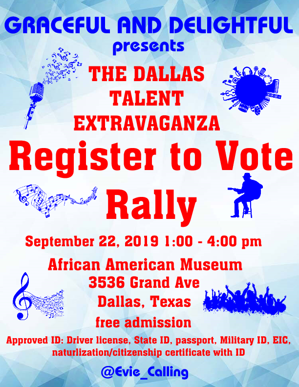 THE DALLAS TALENT EXTRAVAGANZA – ROCK THE VOTE