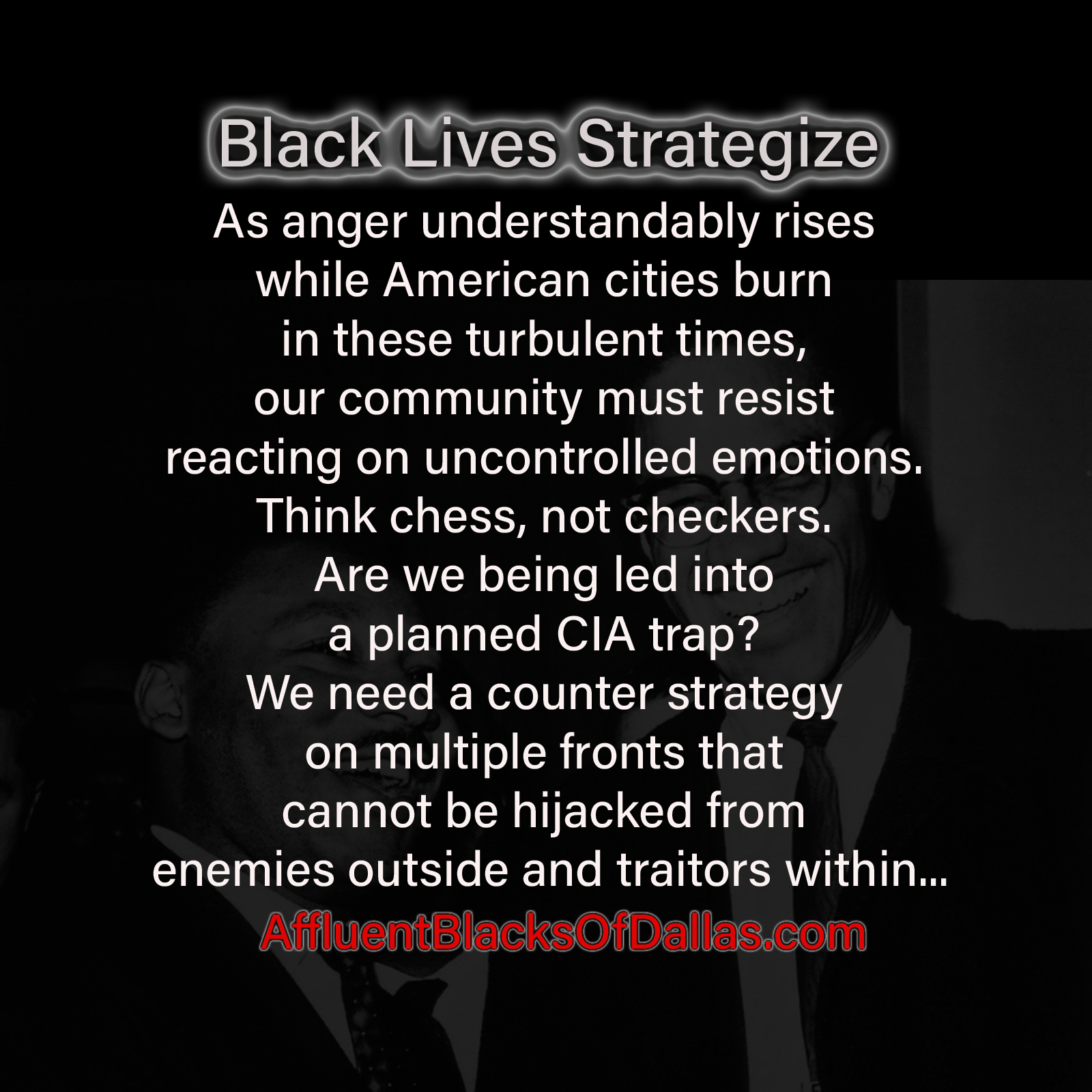 Black Lives Strategize