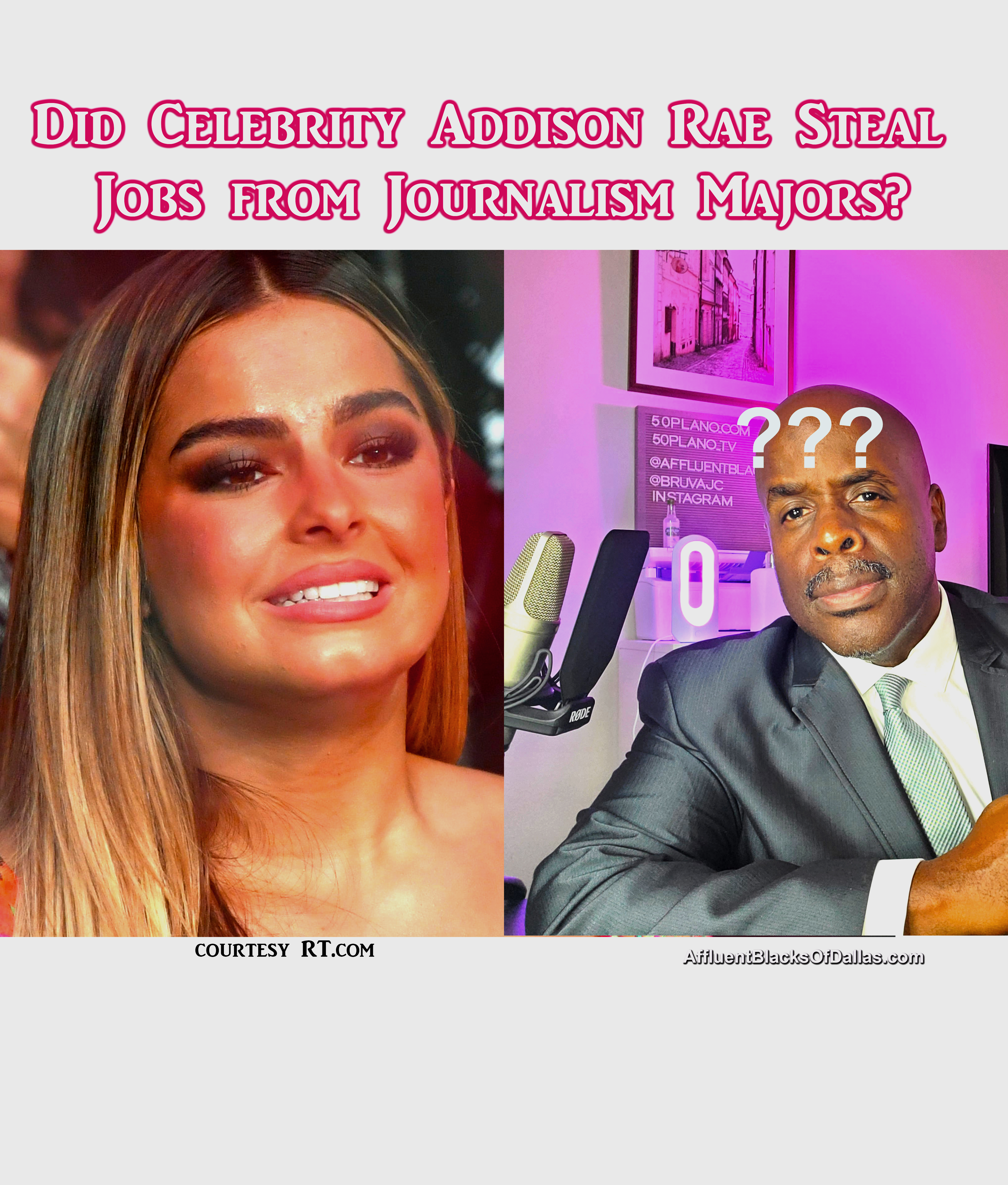 Did Celebrity Addison Rae Steal Job from Journalism Majors? Stop picking struggle majors!!